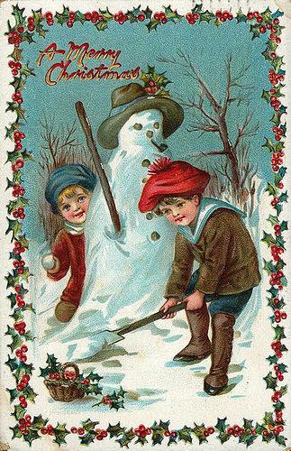 Описание зима мальчик девочка