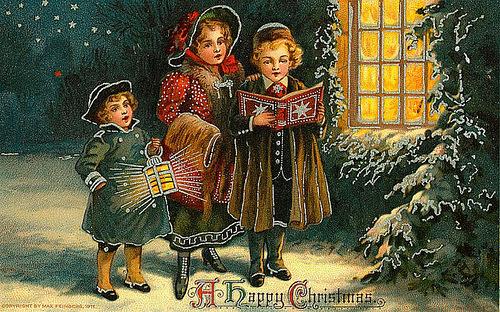 винтажные открытки дети рождество винтаж 5 января 2012 коты и